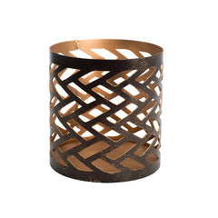 WoodWick Herringbone Petite Candle Holder