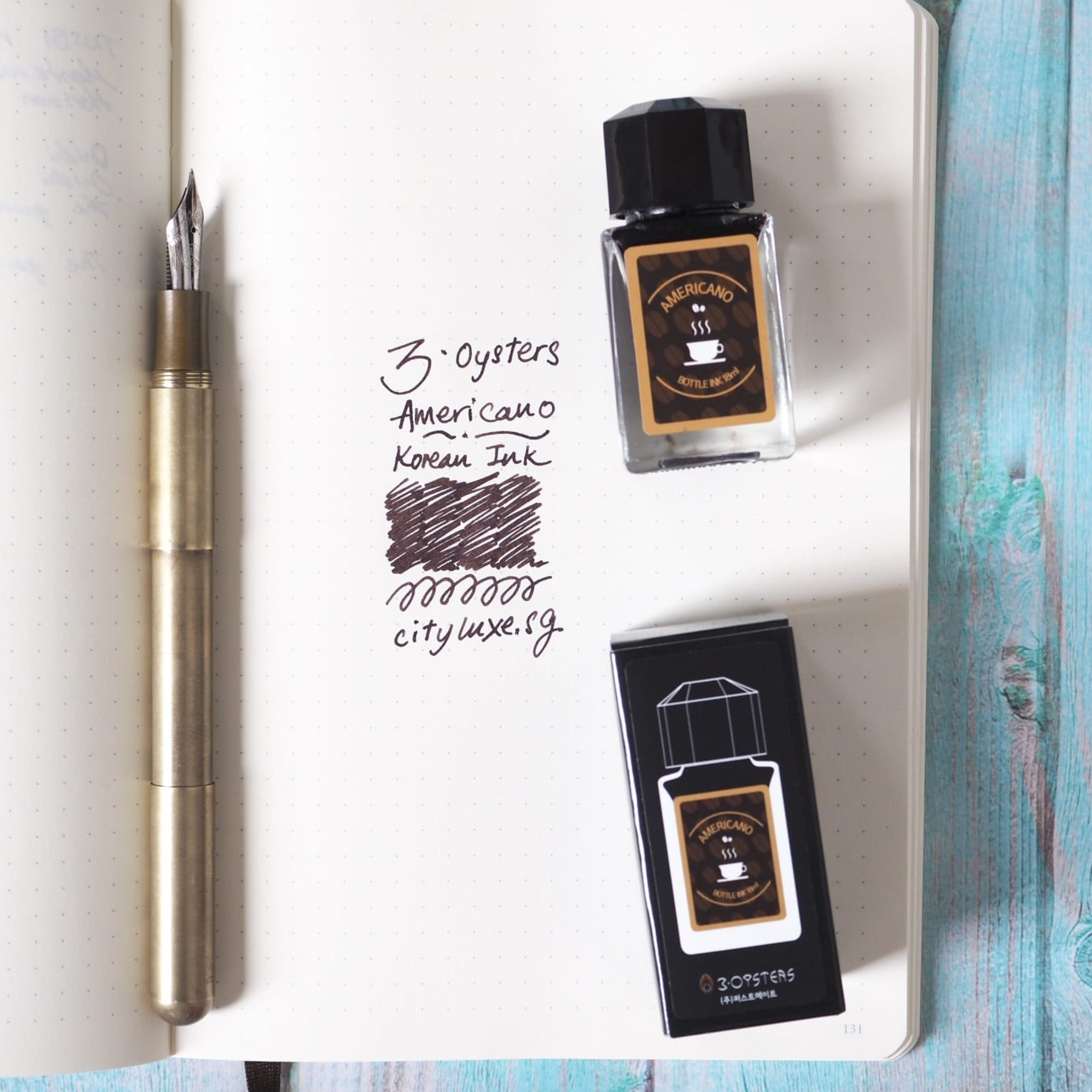 3 Oysters 18ml Ink Bottle Special Edition Americano