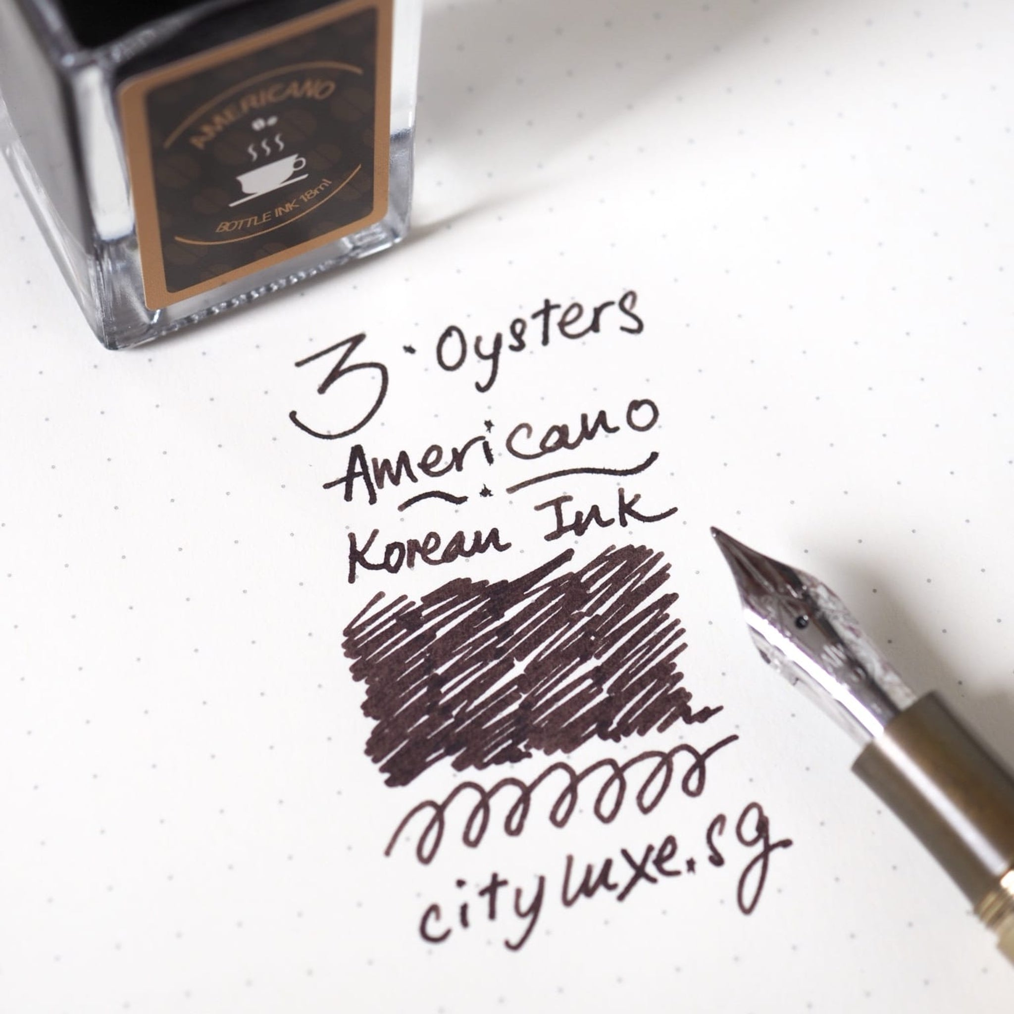3 Oysters Ink Bottle Special Edition Americano