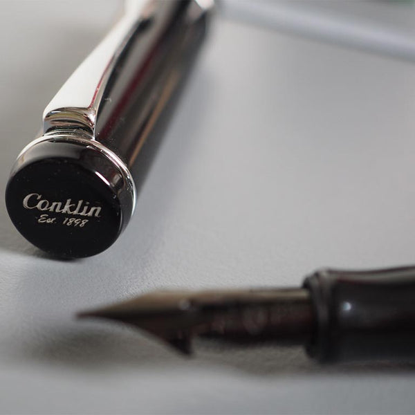 Conklin Duraflex Limited Edition Fountain Pen (Flex Nib) Chrome - Cityluxe