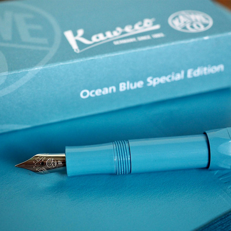 Kaweco Skyline Sport Fountain Pen Special Edition Ocean Blue Extra Fine