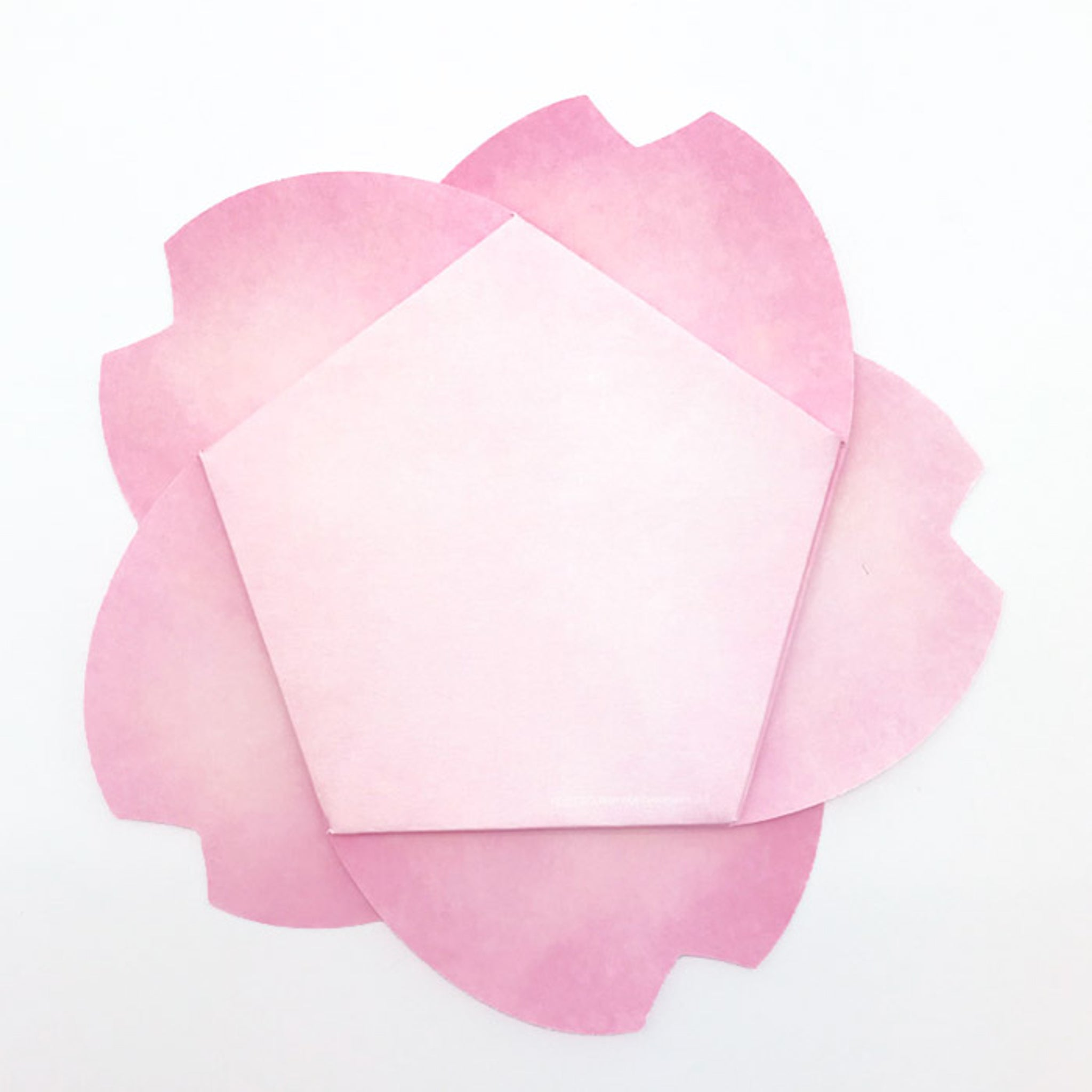 D'Won 3D Pop-up Card - Cherry Blossom (Fold) Dark Pink