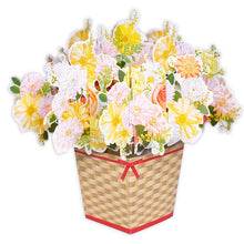 Load image into Gallery viewer, D'Won 3D Card - Thank You, Flower In A Box, Yellow - Cityluxe