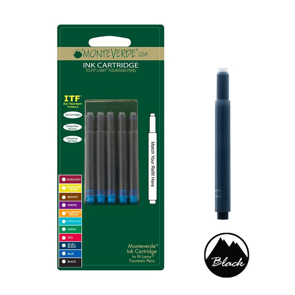 Monteverde Ink Cartridge For Lamy Fountain Pen Black