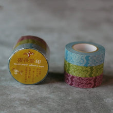 Load image into Gallery viewer, Classiky x Yonagado Lace washi tape blue