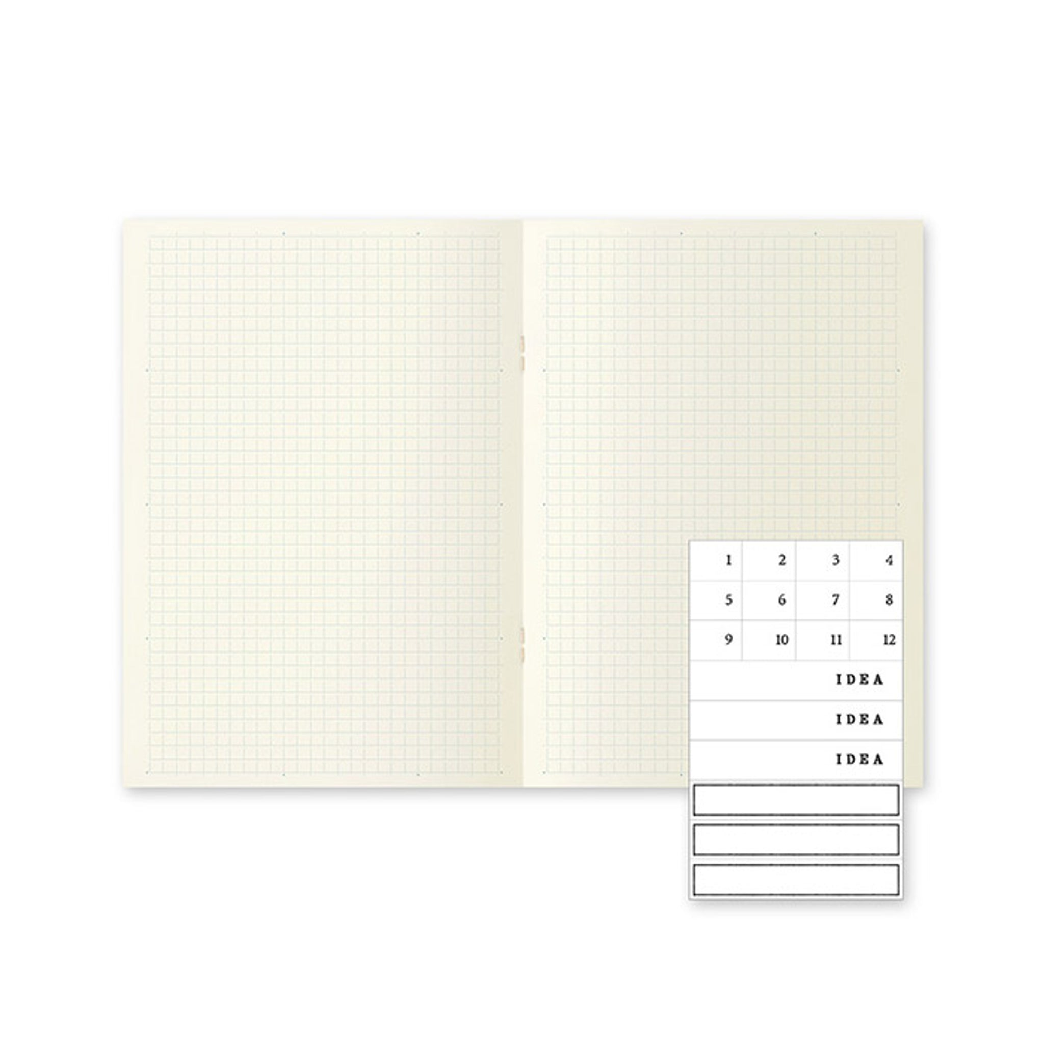 MD Notebook Light A5 - Grid (3pcs/pack)