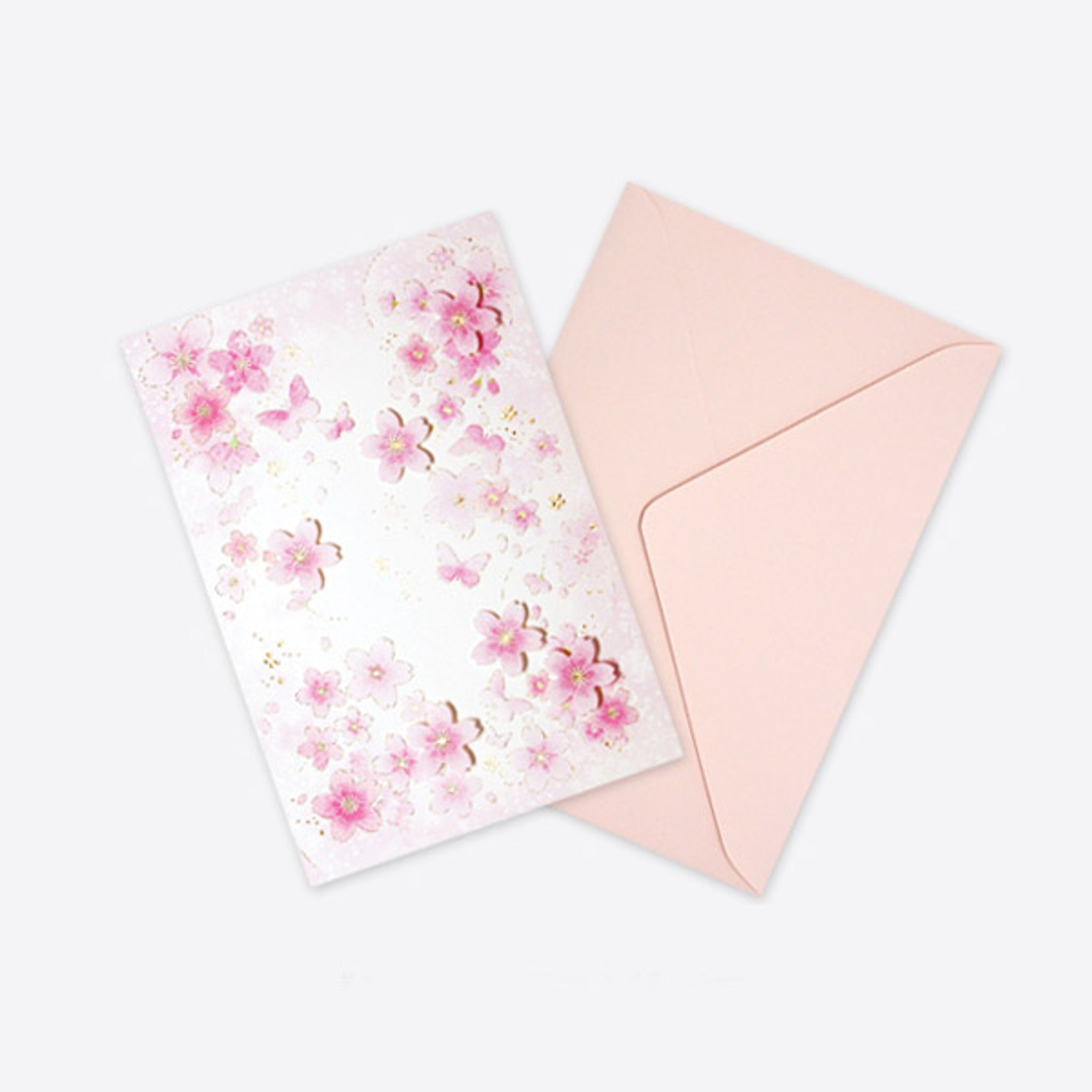D'Won 3D Pop-up Card - Butterfly Light Pink