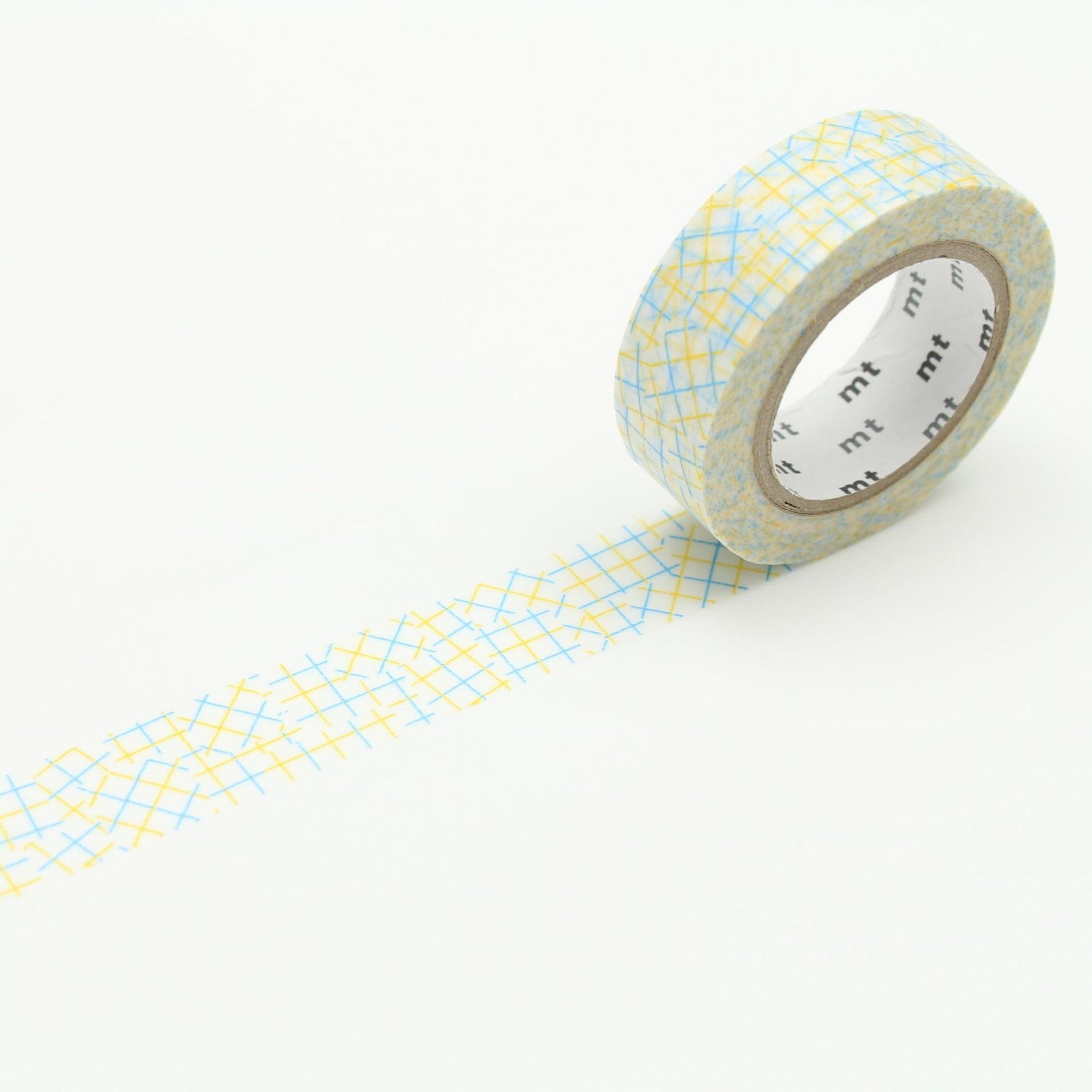 MT Deco Washi Tape Check Collage Yellow