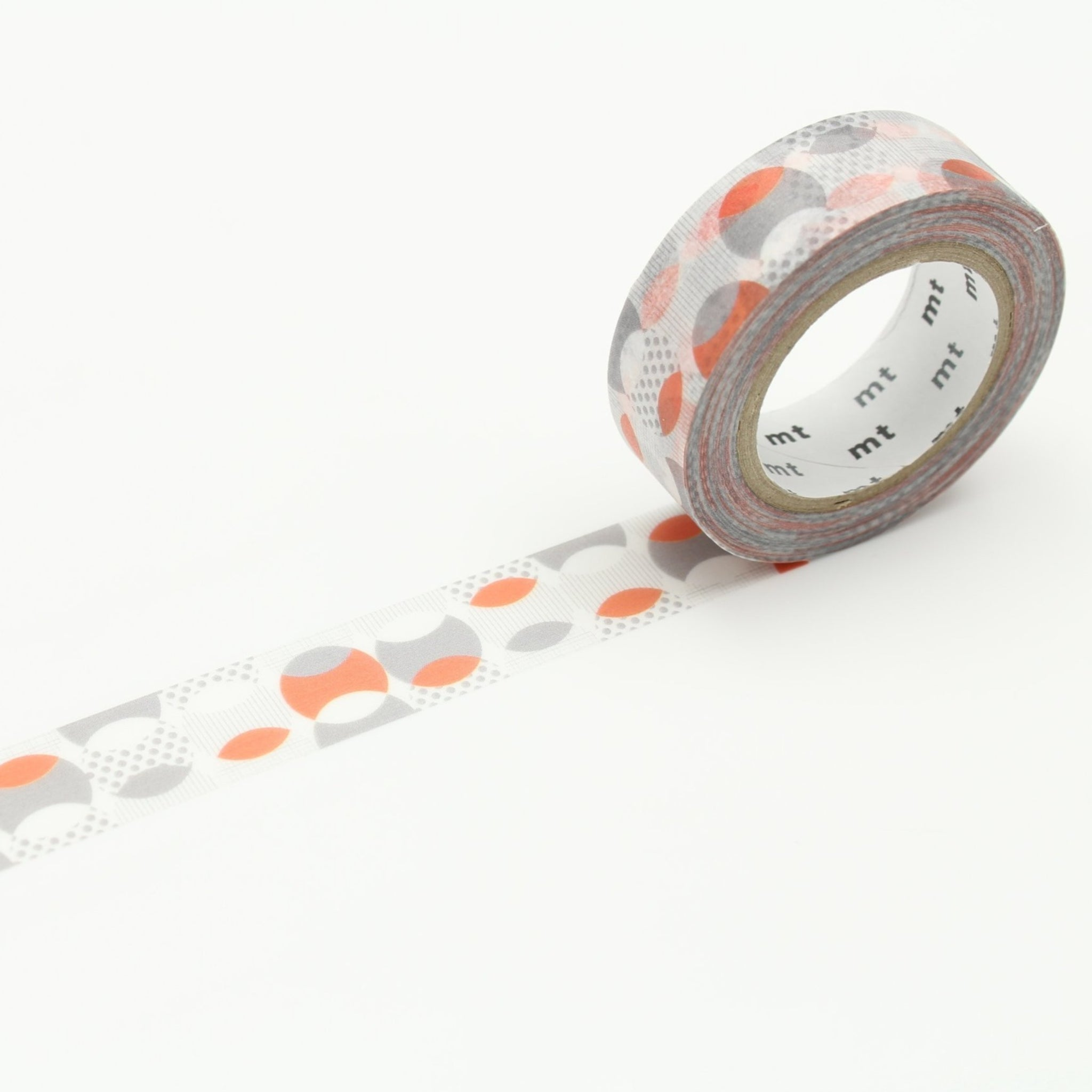MT Deco Washi Tape Overlapped Dot Orange