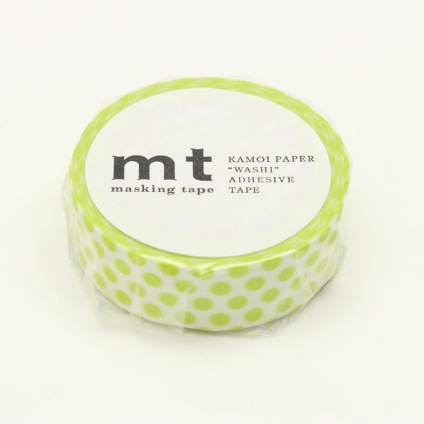 MT Deco Washi Tape Dot Lime
