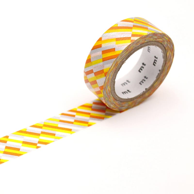MT Deco Washi Tape Block Stripe Orange