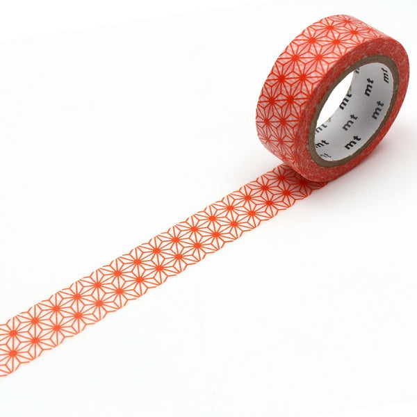 MT Deco Washi Tape Asanoha Akadaidai