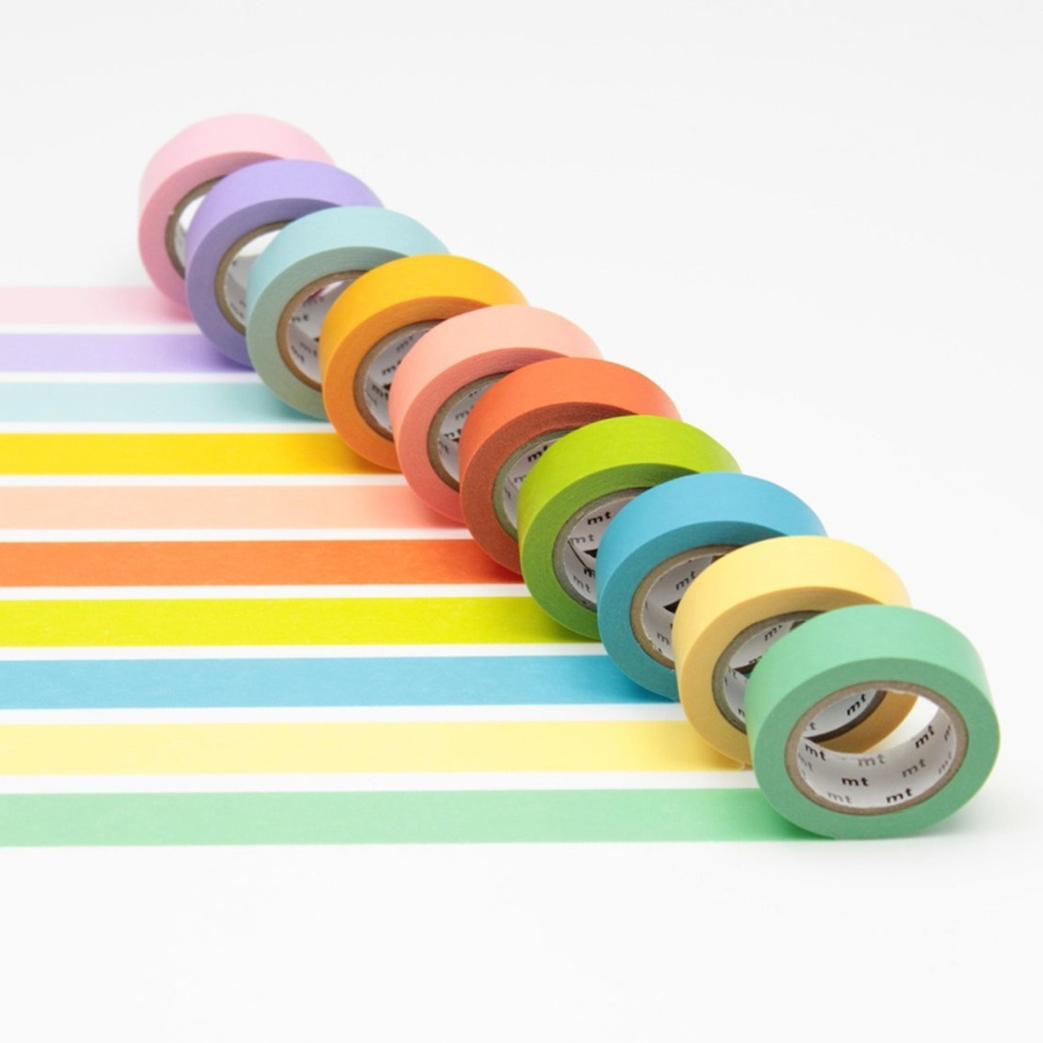 MT 10 Colours Washi Tape Set Light