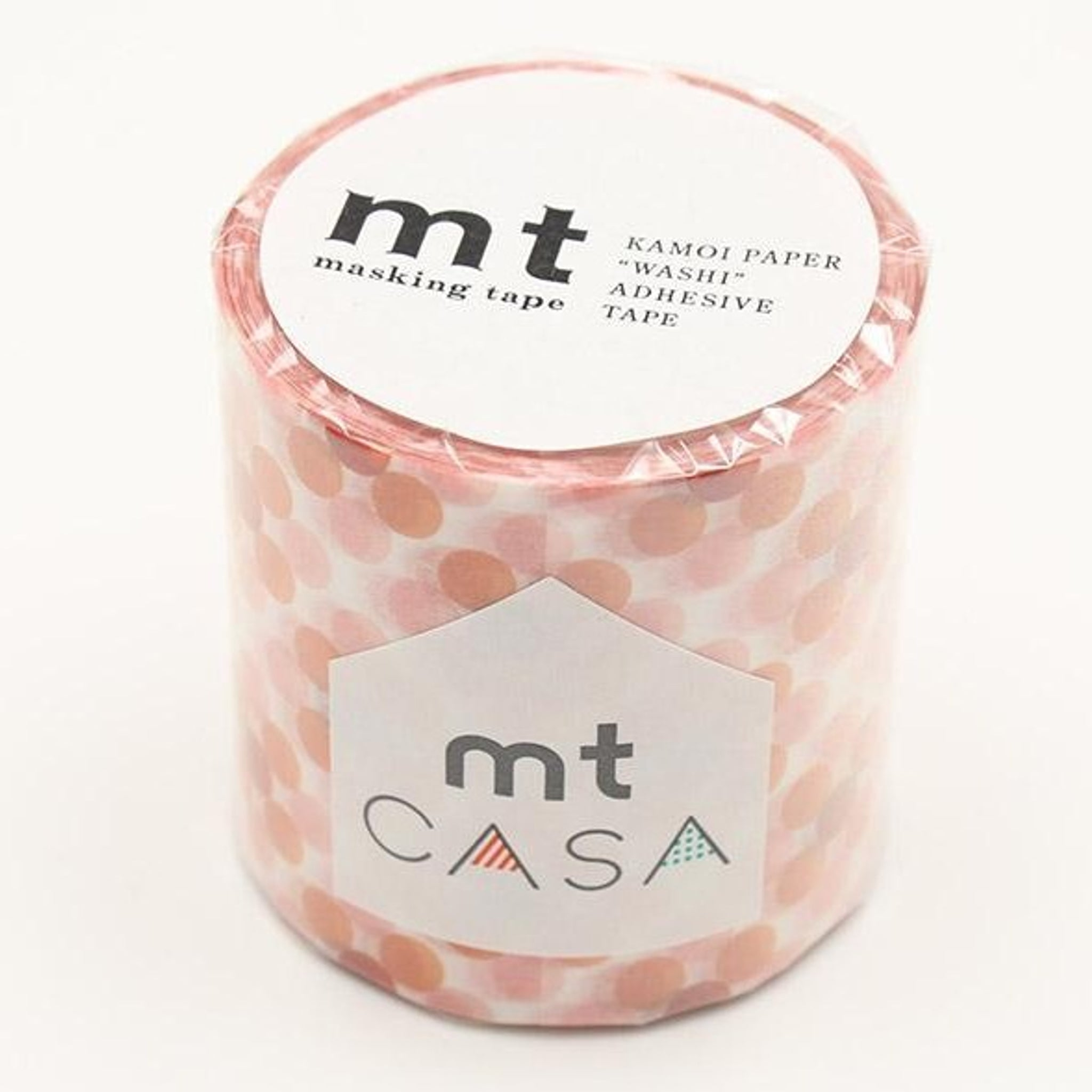 mt Casa 50mm Oboro Dot Fire wide washi tape