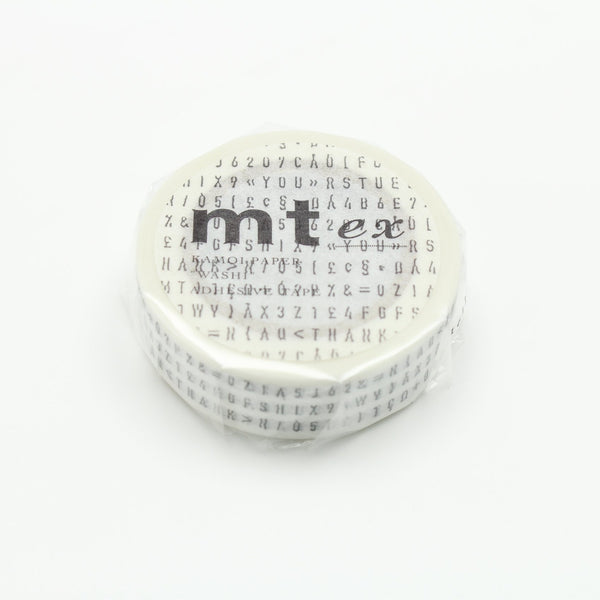 MT Character Strings washi tape (MTEX1P123)
