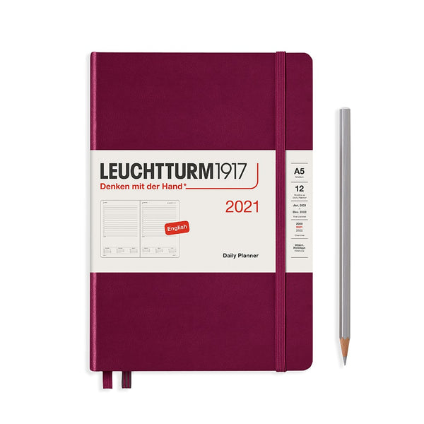 Leuchtturm1917 A5 Medium Daily Planner 2021 - Port Red