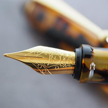 Load image into Gallery viewer, Onishi Handmade Fountain Pen Amber