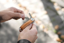Load image into Gallery viewer, Orbitkey 2.0 Leather Sage with Sage Stitching