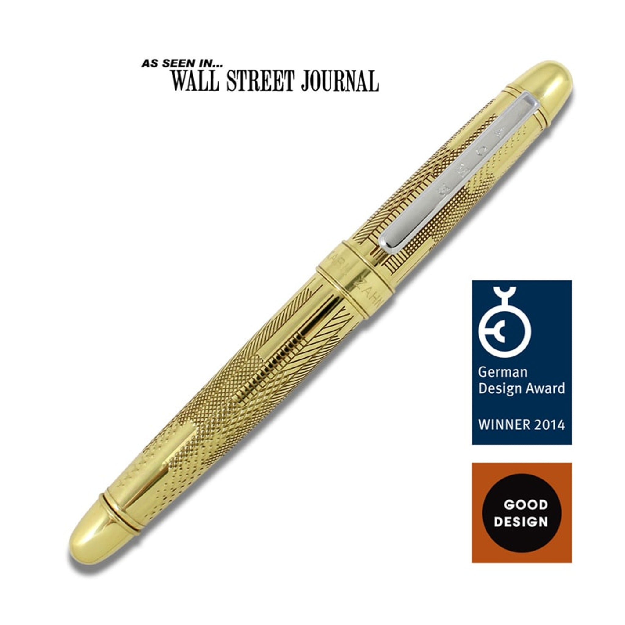Acme Studio Etched Rollerball Pen Hatch