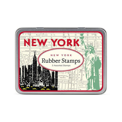 Cavallini Rubber Stamp In Tin New York