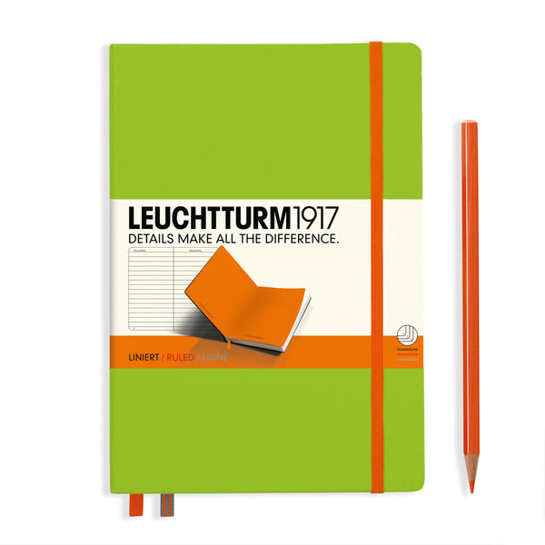 Leuchtturm1917 Bicolore A5 Medium Notebook Lime-Orange