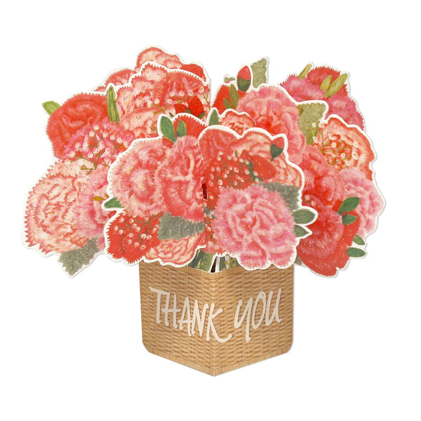 D'Won 3D Pop Up Card Thank You Flower In A Basket
