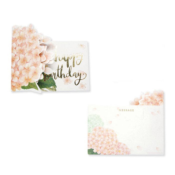 D'Won 3D Card - Thank You, Hydrangeas, Light Pink - Cityluxe