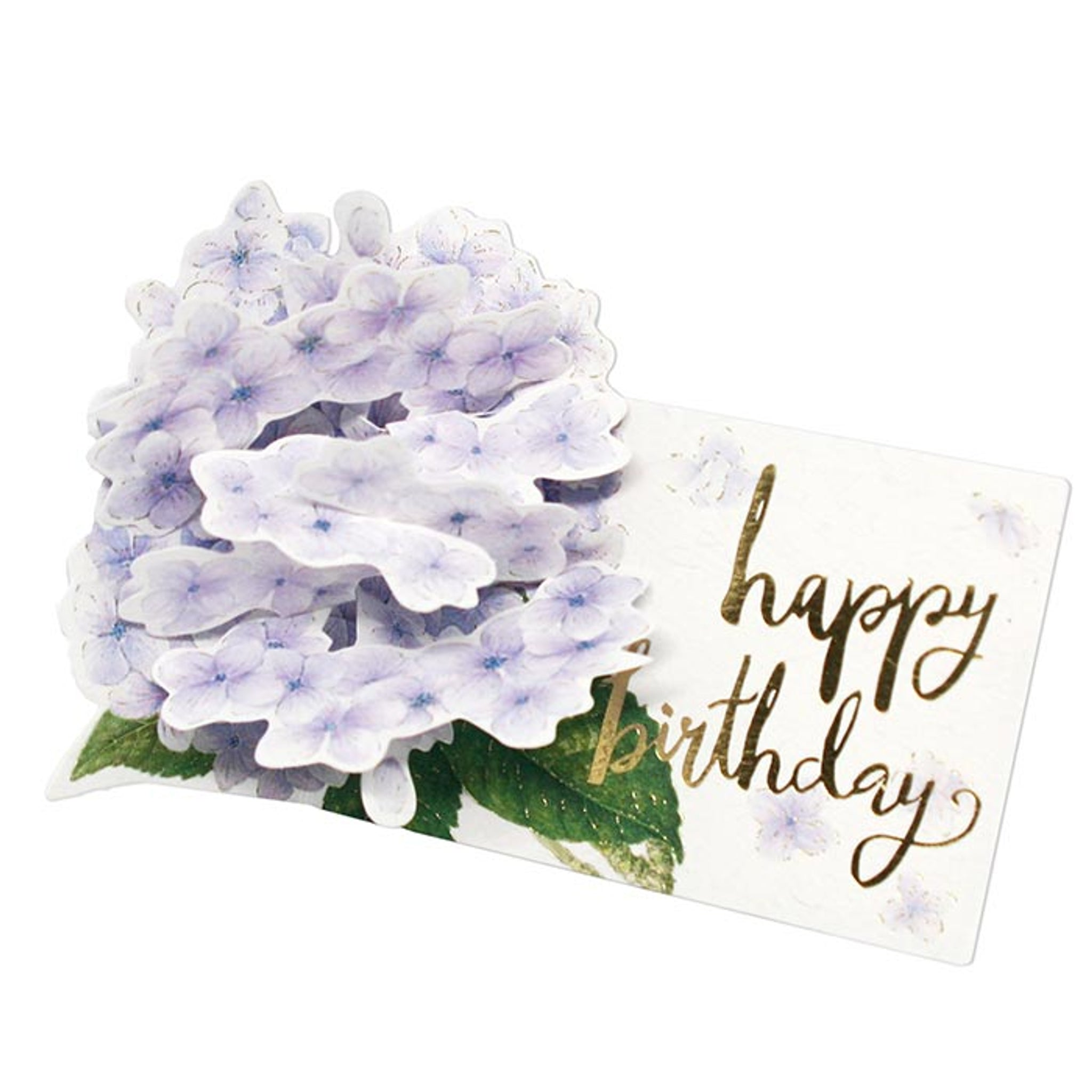 D'Won 3D Card - Thank You, Hydrangeas, Light Purple