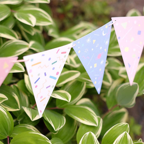 D'Won 3D Card - Bunting - Party Flag - Cityluxe