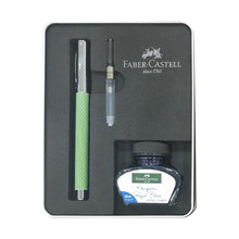 Load image into Gallery viewer, Faber-Castell Ambition Fountain Pen Gift Set Opart Mint Green