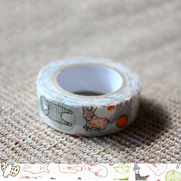 Classiky x Tomomi Irago Beasts Green Washi Tape - Cityluxe