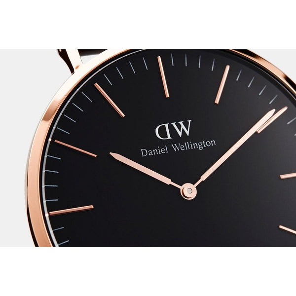 Daniel Wellington Classic Black Bristol Rose Gold 36mm Watch - MOMOQO
