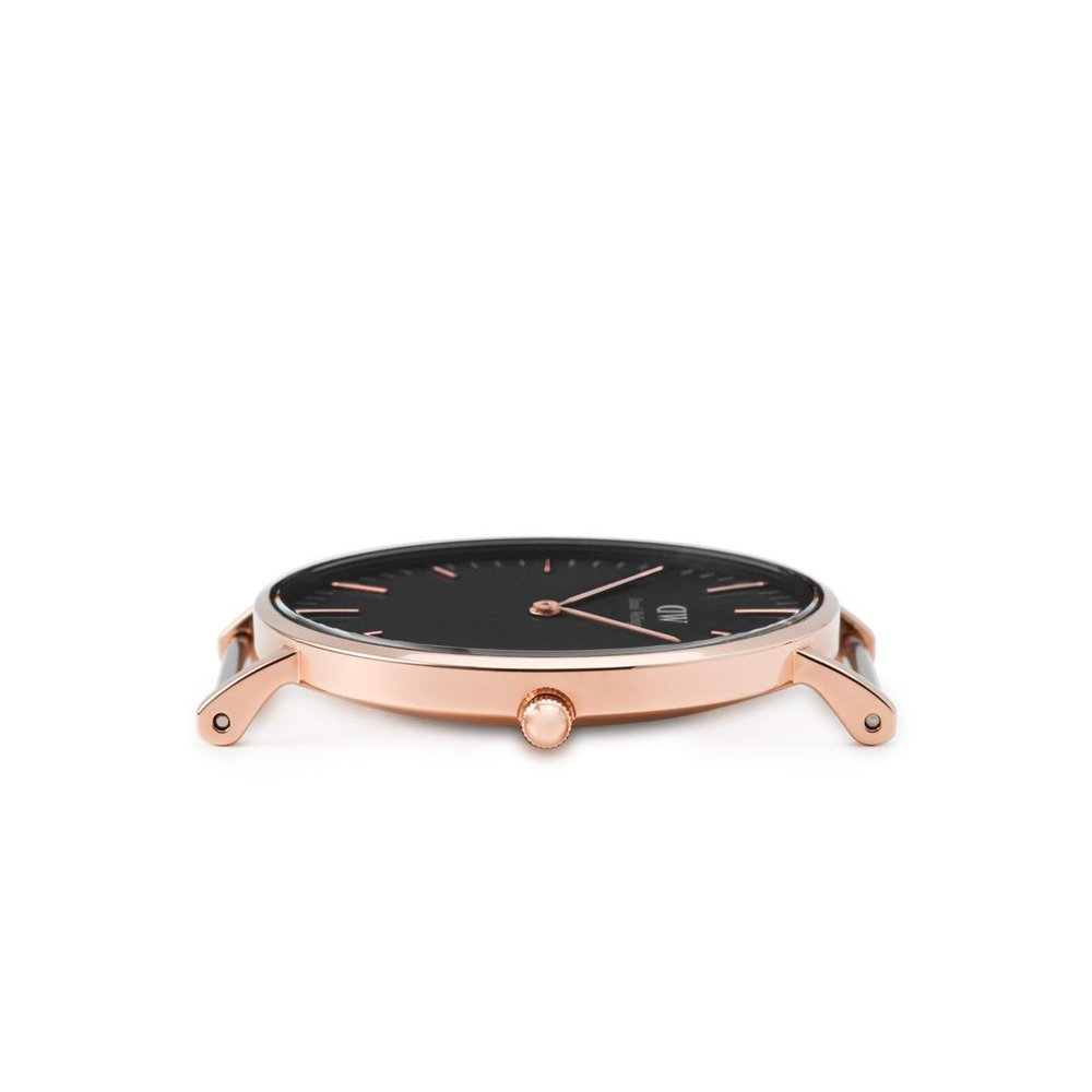 b8784ba40a96e Daniel Wellington Classic Black Bristol Rose Gold 36mm Watch – Cityluxe