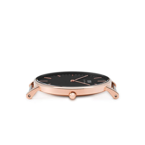 Daniel Wellington Classic Black Reading Rose Gold 36mm Watch - MOMOQO