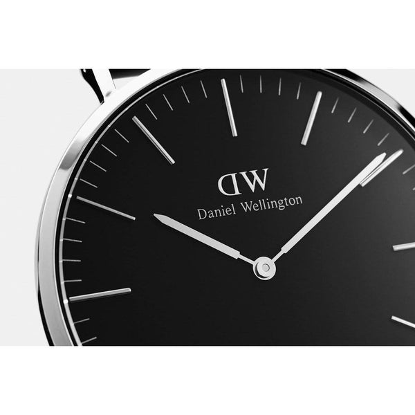 Daniel Wellington Classic Black Cornwall 40mm Silver Watch