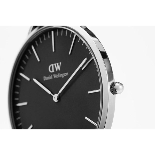 Daniel Wellington Classic Black Sheffield Silver 36mm Watch