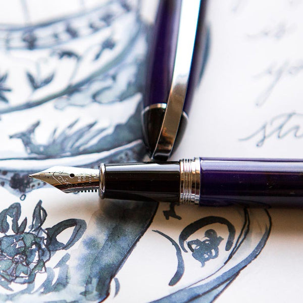 Conklin Victory Fountain Pen Royal Blue - Cityluxe