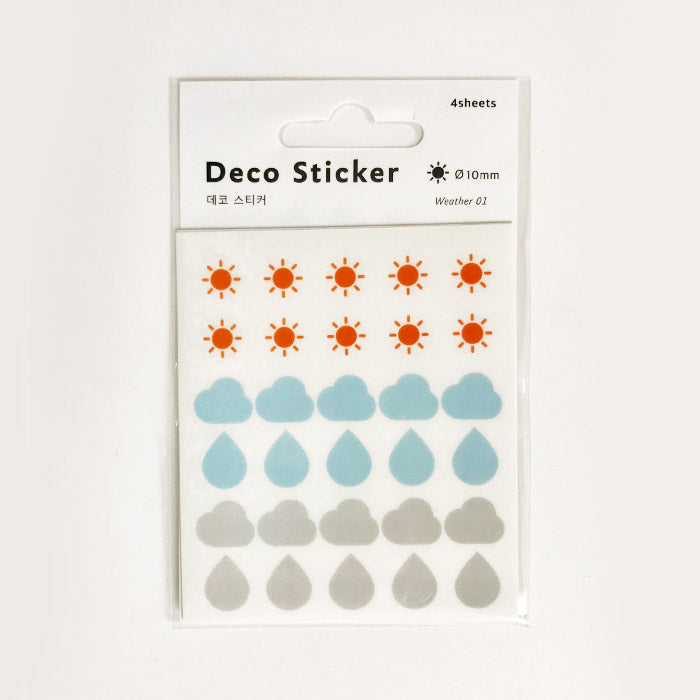 DailyLike Deco Sticker Weather 01