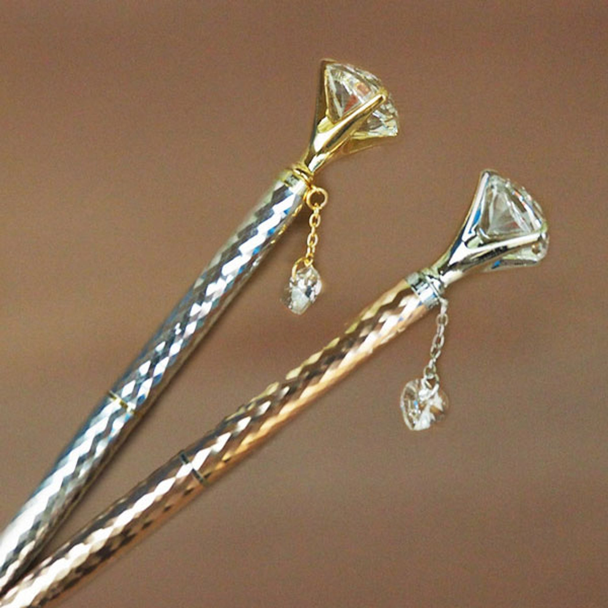 Helen Kelly Diamond Charm Pen Silver