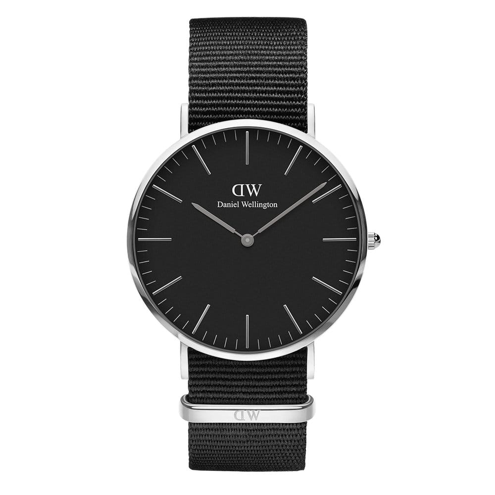 Daniel Wellington Classic Black Cornwall 40mm Silver Watch (without box)