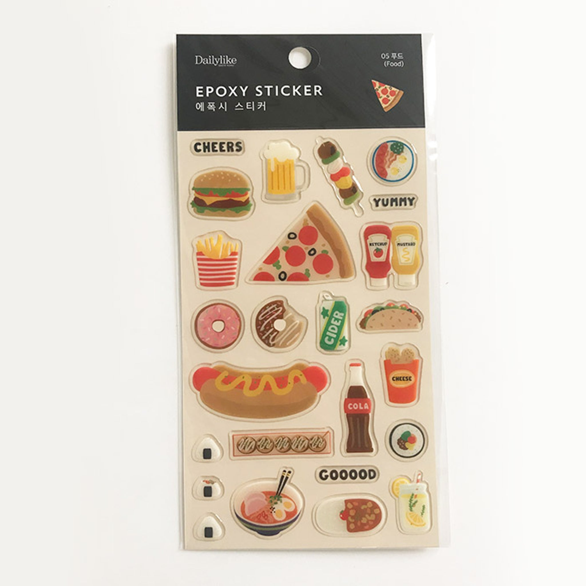 DailyLike Epoxy Sticker 05 Food