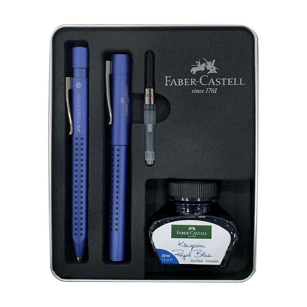 Faber-Castell Grip Edition Fountain & Ballpoint Pen Gift Set Blue
