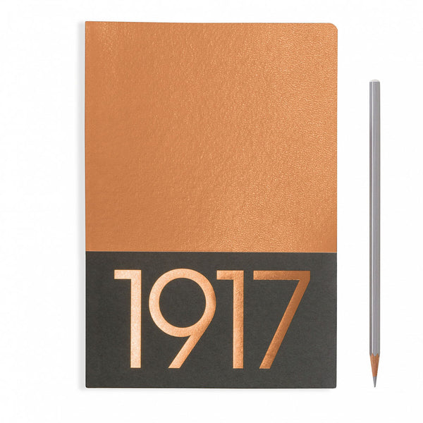 Leuchtturm1917 Metallic Edition A5 Medium Jottbook Copper - Plain (Twin Pack)