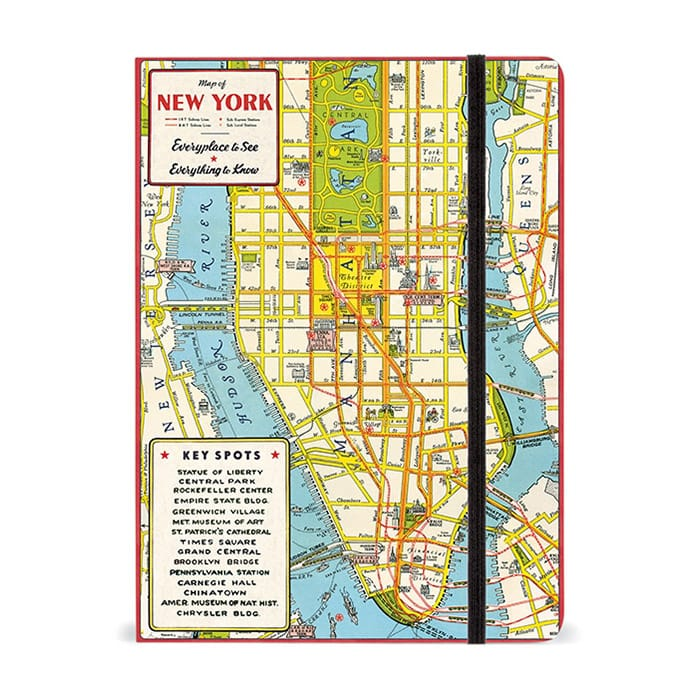 Cavallini Notebook New York City Map