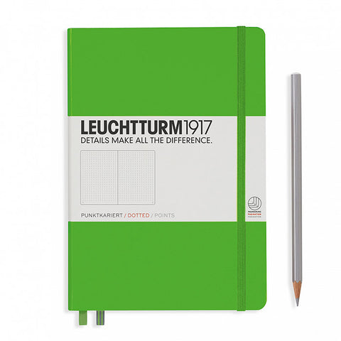 Leuchtturm1917 Hardcover A5 Medium Notebook Fresh Green - Dotted