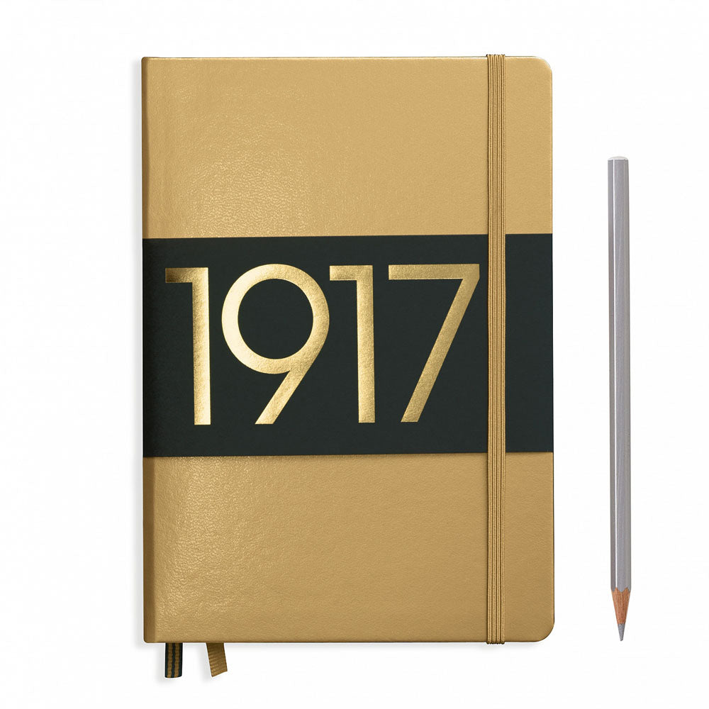 Leuchtturm1917 Metallic Edition A5 Medium Notebook Gold - Ruled