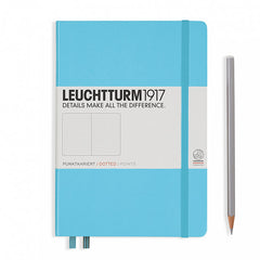 Leuchtturm1917 Hardcover A5 Medium Notebook Ice Blue - Dotted