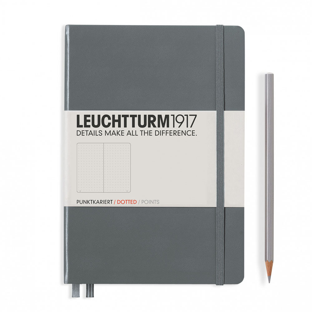 Leuchtturm1917 Hardcover A5 Medium Notebook Anthracite - Dotted
