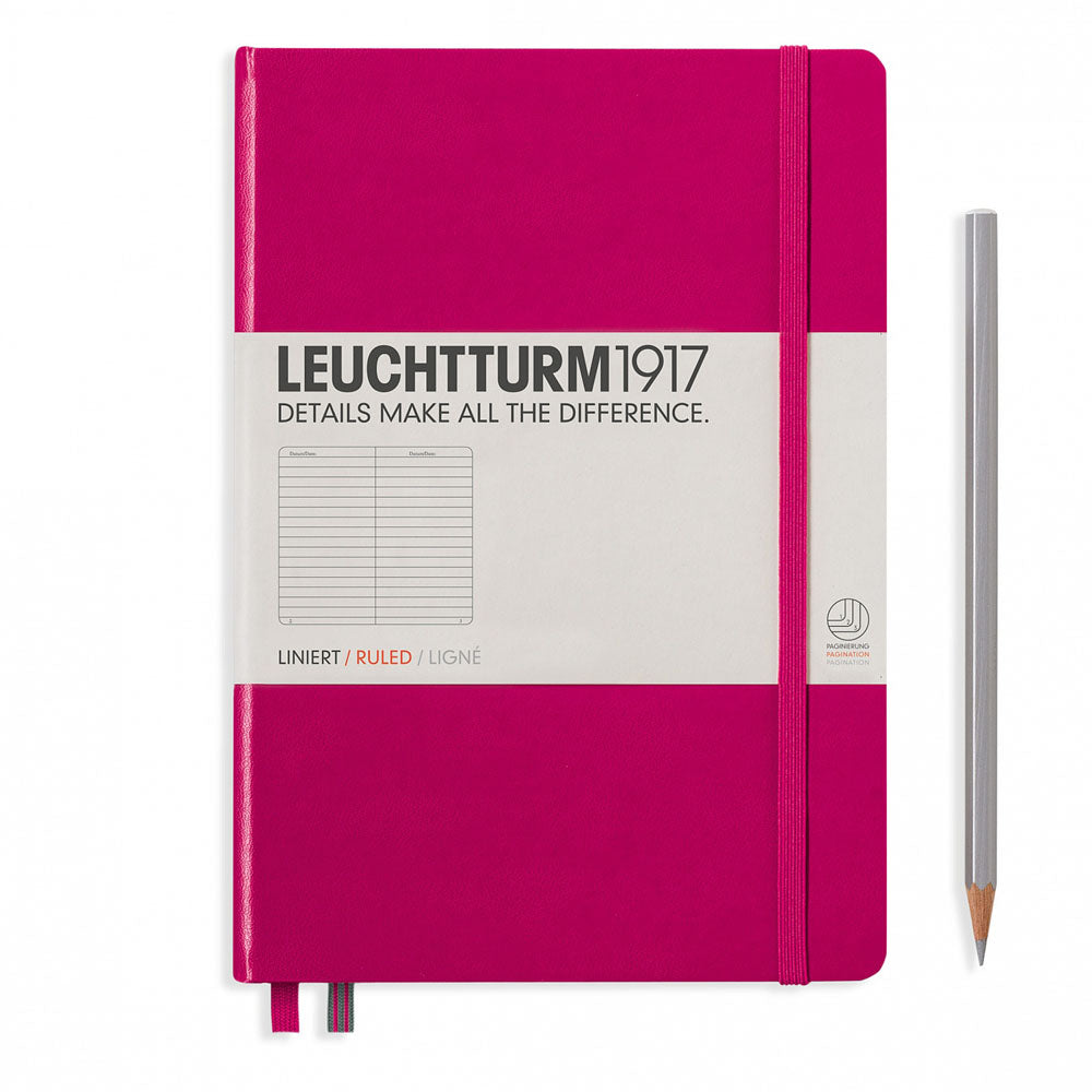 Leuchtturm1917 Hardcover A5 Medium Notebook Berry - Ruled