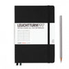 Leuchtturm1917 Hardcover A5 Medium Notebook Black - Ruled